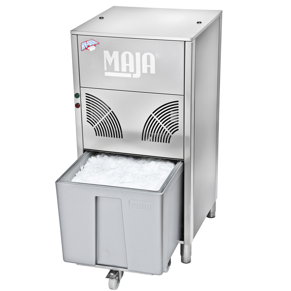 Ice maker with integrated Maja SAH 85 L refrigeration unit