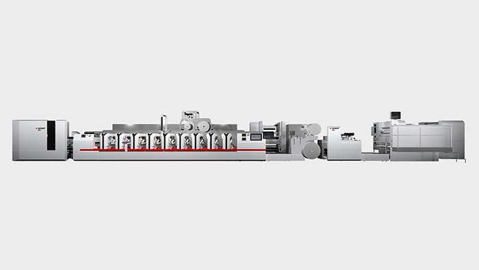 Flexo printing machine section type BOBST M6