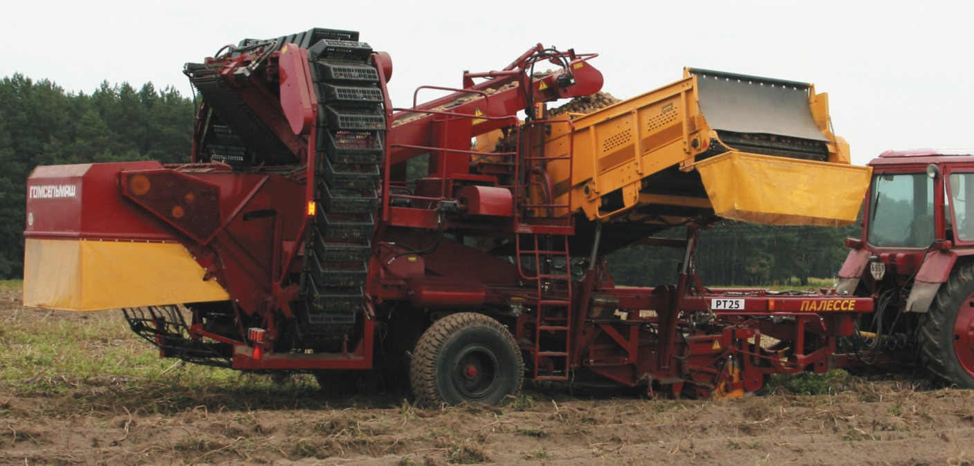 Two-row potato harvester with bunker PALESSE RT-25
