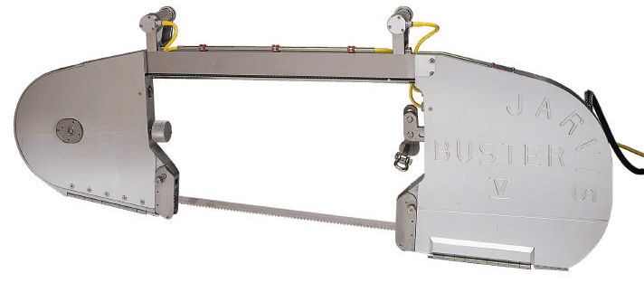 Band saws for sawing half-carcasses of livestock