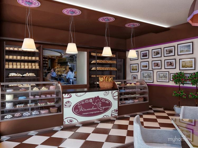Интерьеры кафе кондитерских фото