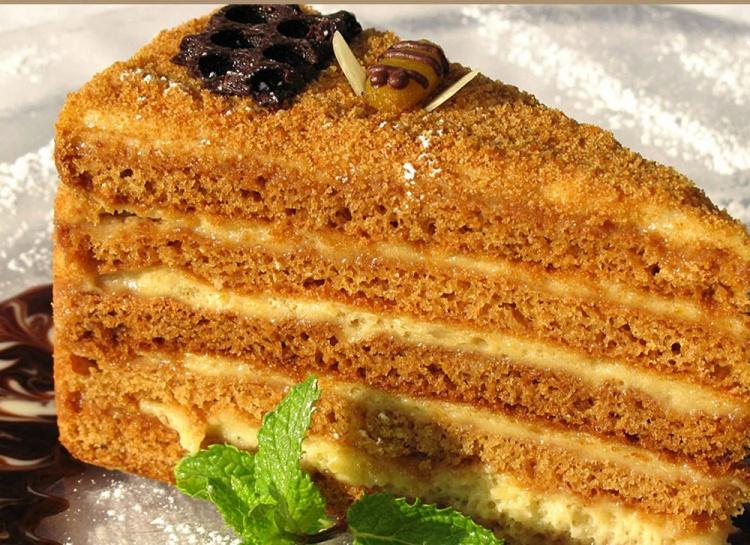 Вкусный торт медовик с фото