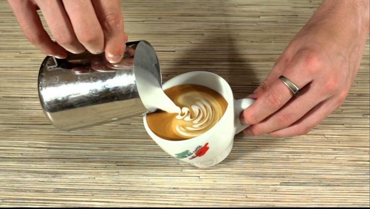 Рисунки молоком на кофе